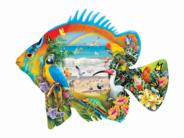 Beachfront Jigsaw Puzzle 1,000 Shaped Pieces Lori Schory - Mr Puzzle Head