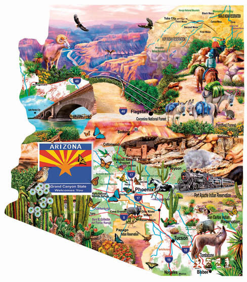 Southwest Travels Jigsaw Puzzle 1,000 Shaped Pieces Mary Thompson - Mr Puzzle Head