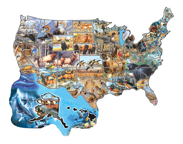 Wild America Jigsaw Puzzle 600 Shaped Pieces Cynthie Fisher - Mr Puzzle Head