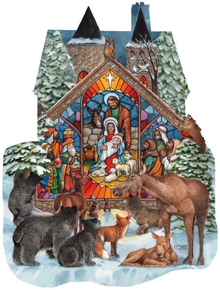 Forest Nativity Jigsaw Puzzle 1,000 Shaped Pieces Parker Fulton - Mr Puzzle Head