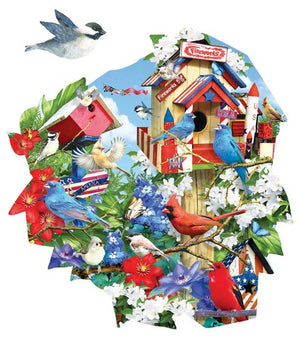 Birdhouse Celebration Jigsaw Puzzle
