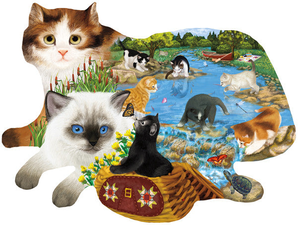 Fishing Kittens Jigsaw Puzzle
