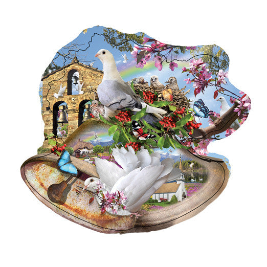 Country Bells Jigsaw Puzzle 1,000 Shaped Pieces Lori Schory - Mr Puzzle Head