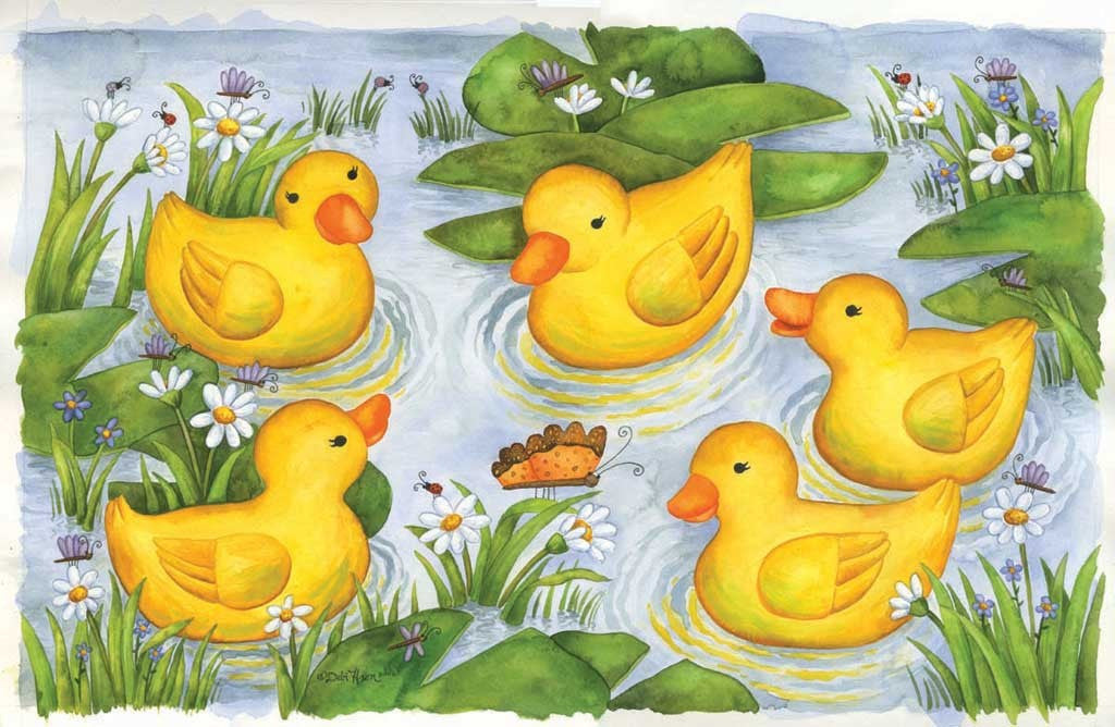 Rubber Duckies Jigsaw Puzzle 100 Pieces Debi Hron - Mr Puzzle Head