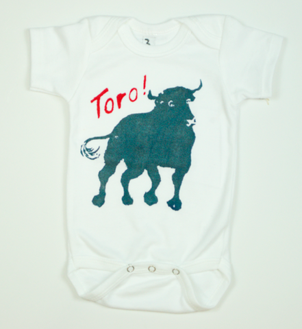 Onesie - White with Toro