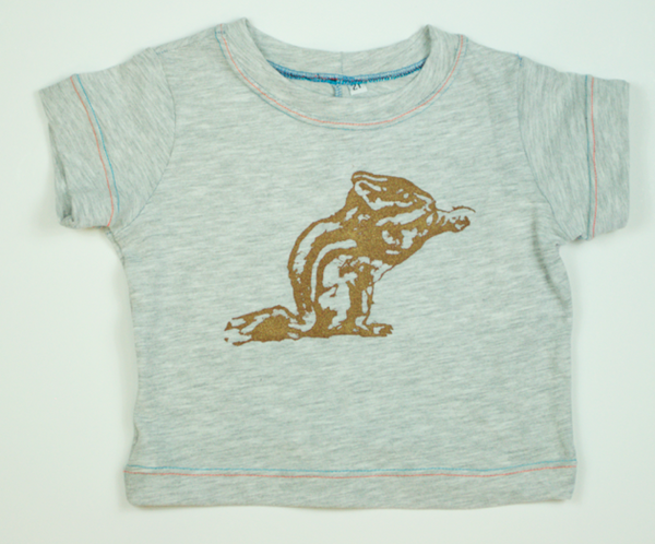 T-Shirt - Gray Chipmunk