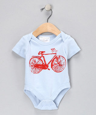 Onesie - Blue with Bike