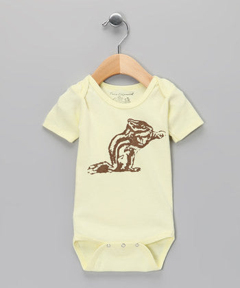 Onesie - Yellow with Chipmunk