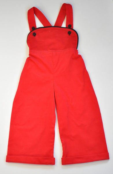 Overalls - Red Corduroy