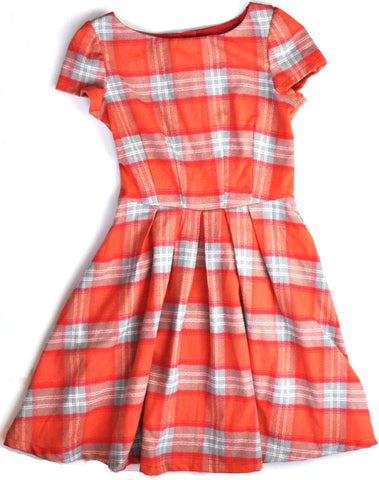 Dress - Orange Plaid