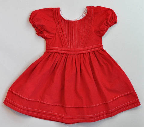 Alice Dress - Red Corduroy