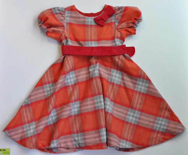 Shirley Dress - Orange Plaid Flannel