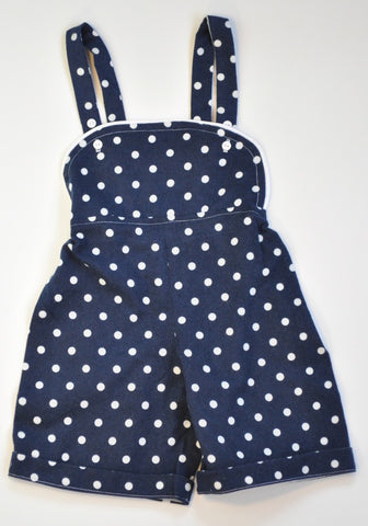 Romper - Navy Dot