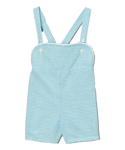 Shortalls in Turquoise Gingham