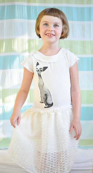 Girls Tutu Dress - Meow
