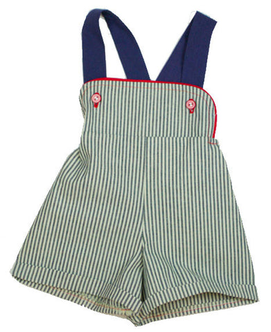 Shortalls in Engineer Stripe