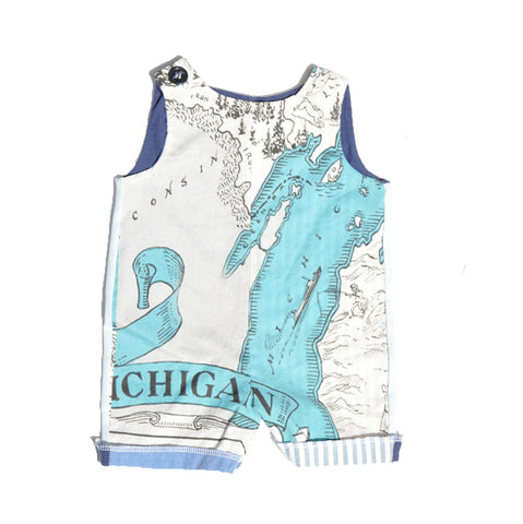 Sleeveless Creeper in Great Lakes Print
