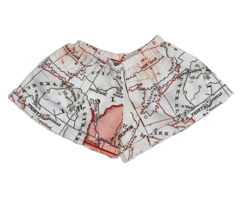Short Shorts in Map Print