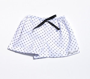 Short Shorts in Polka Dot