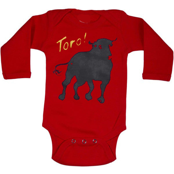 Long Sleeve Onesie - Red Toro