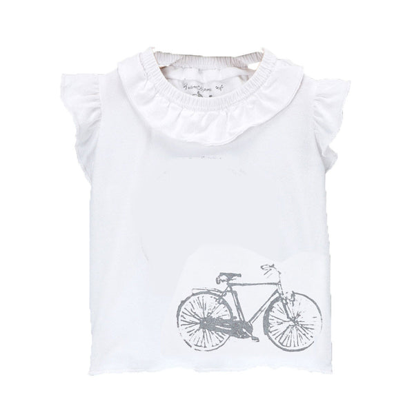 Girls Flutter T with Vintage Bike