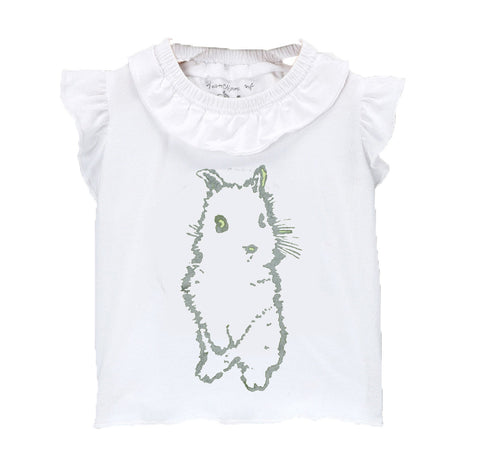 Girls Flutter T with Le Lapin