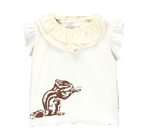 Girls Flutter T with Chipmunk