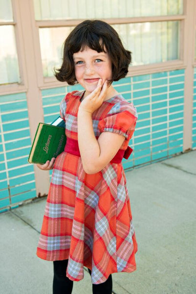 Shirley Dress - Orange Plaid