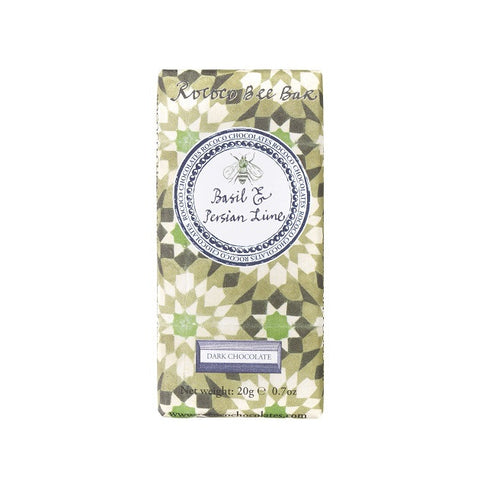 Basil & Perisan Lime Organic Dark Chocolate BEE Bar
