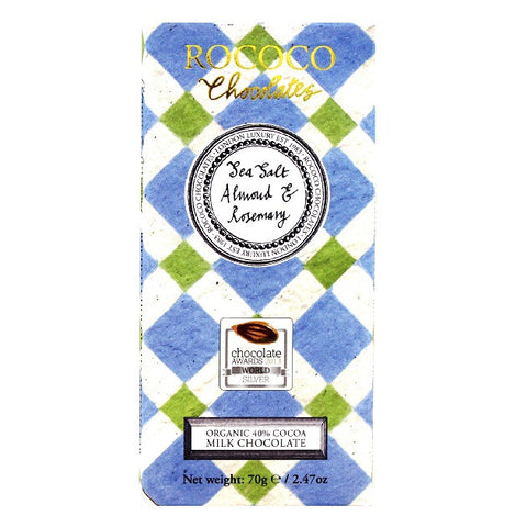 Almond, Rosemary & Sea Salt Milk Chocolate Artisan Bar