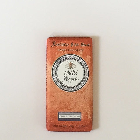 Chilli Pepper Organic Dark  Chocolate BEE Bar