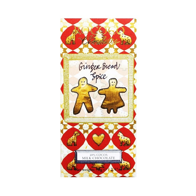 Ginger Bread Spice Milk Chocolate Artisan Bar