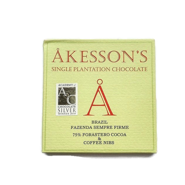 Akesson Brazilian Forastero 75% with Coffee Nibs