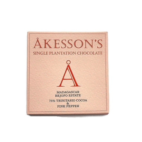 Akesson Madagascar Trinitario 75% with Pink Peppercorn