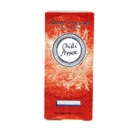Chilli Pepper Organic Dark Chocolate Artisan Bar