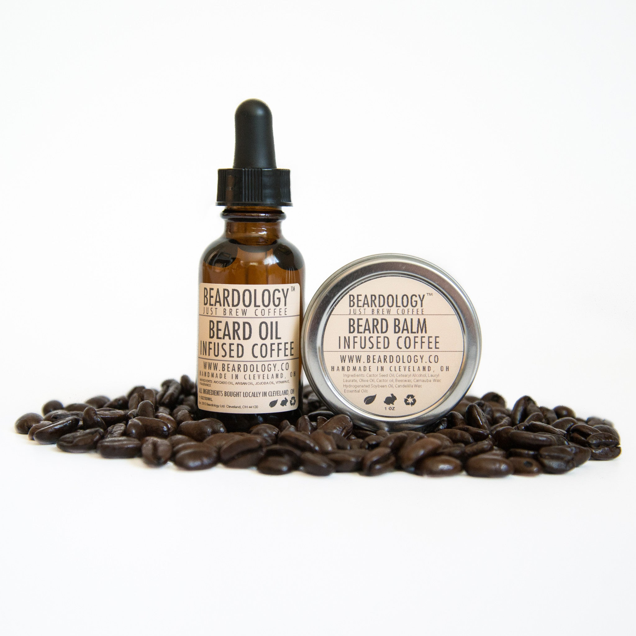 Coffee Infused - One Ounce Oil and One Ounce Balm Set