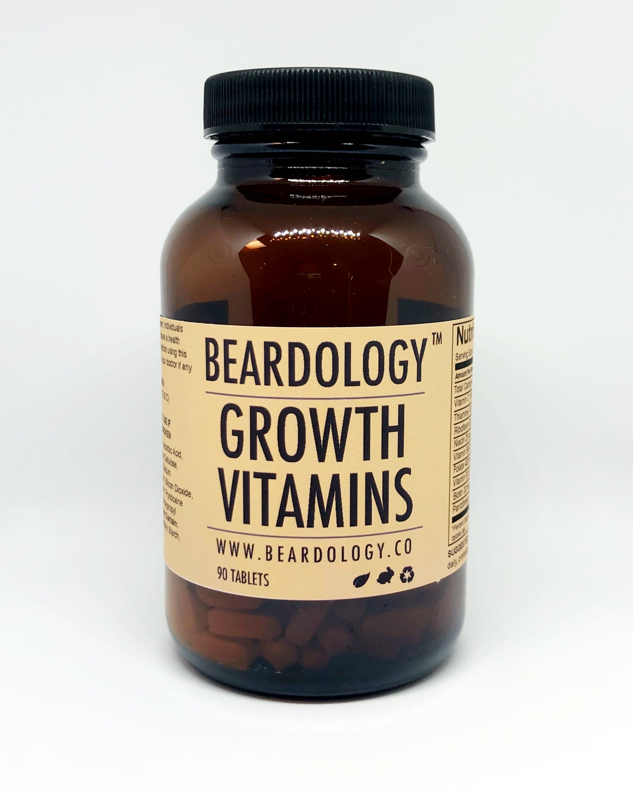 Beard Growth Vitamins - 90 Tablets