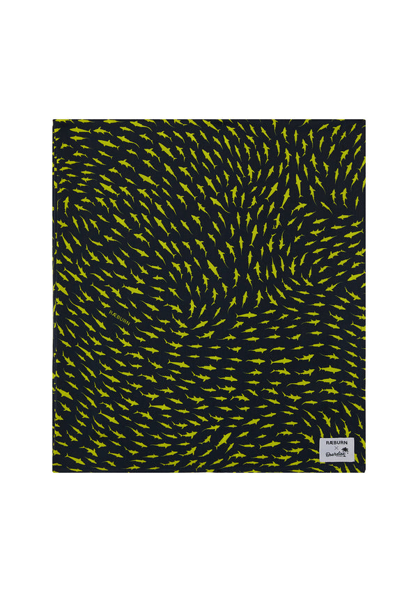 RÆBURN Sharks Yellow Hammam Towel