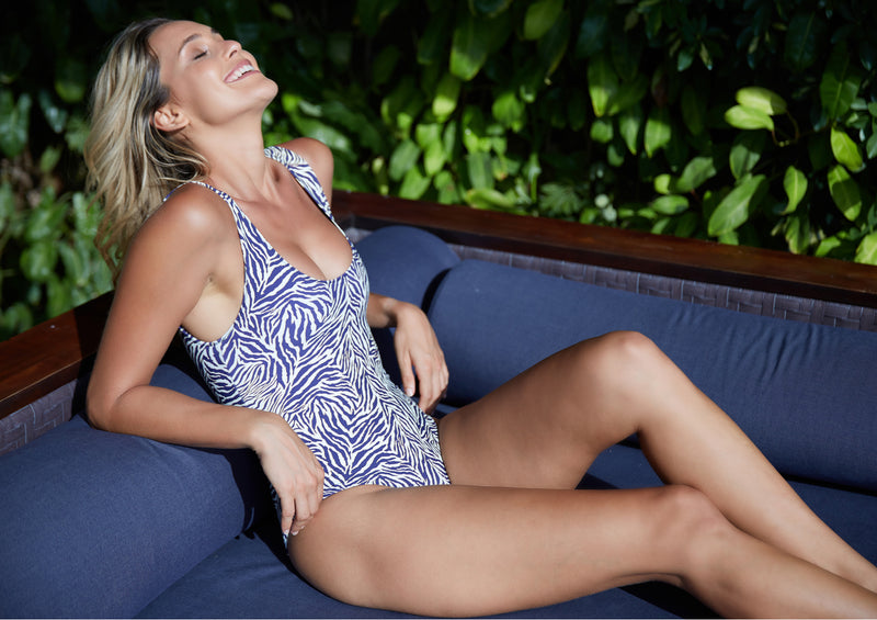 Tropical Zebra Reversible One Piece