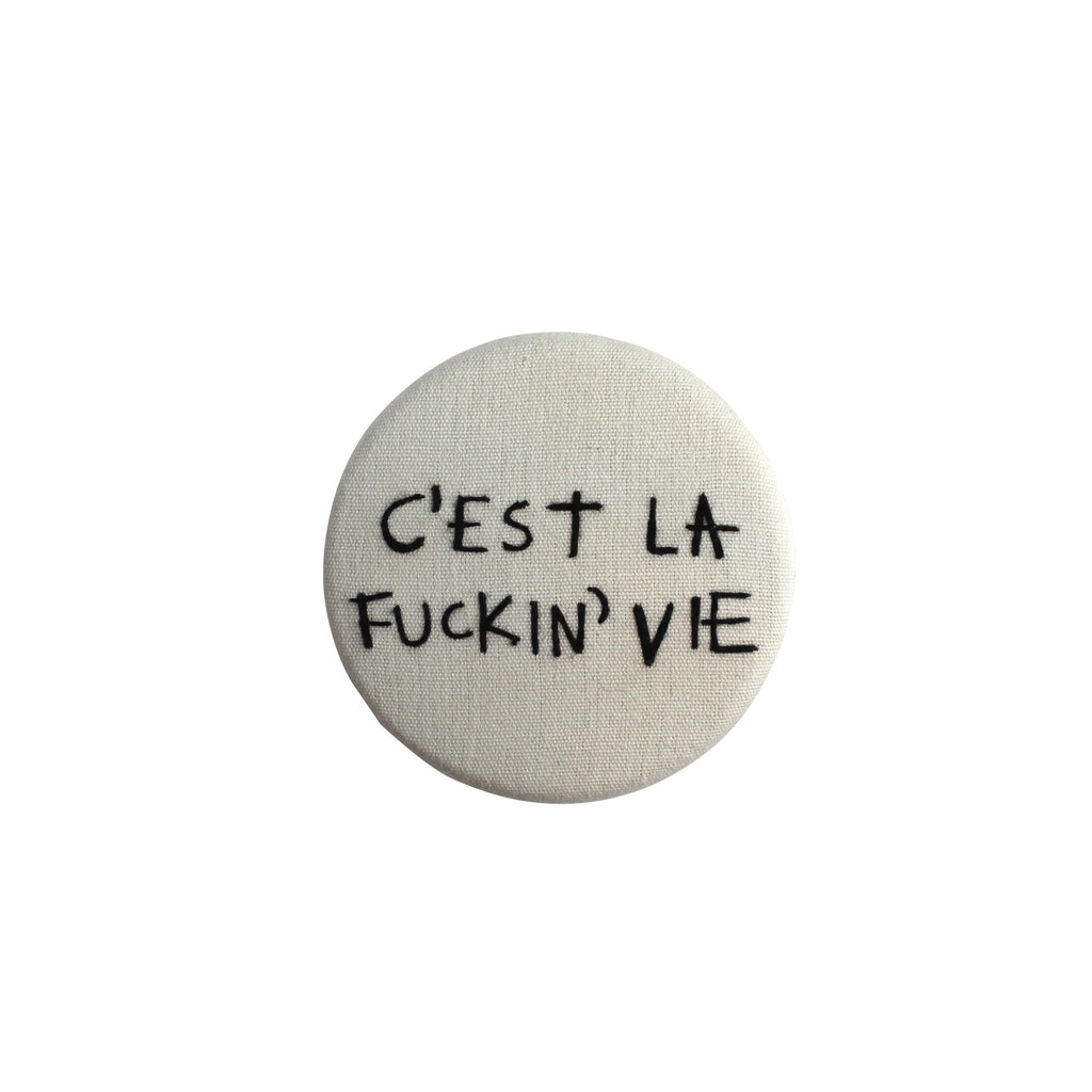 C'est La Vie - Hand embroidered copper hook