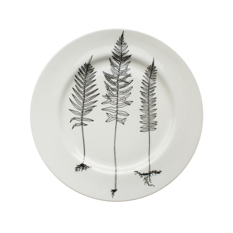 Triple Fern, Botanical Dinner Plate, 26cm