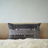Royal Festival Hall Grey Linen cushion