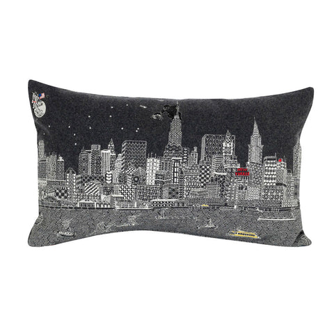 New York By Night Grey Wool