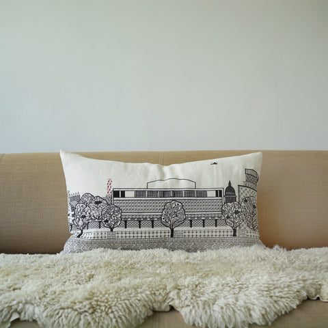 Royal Festival Hall White Linen cushion cover