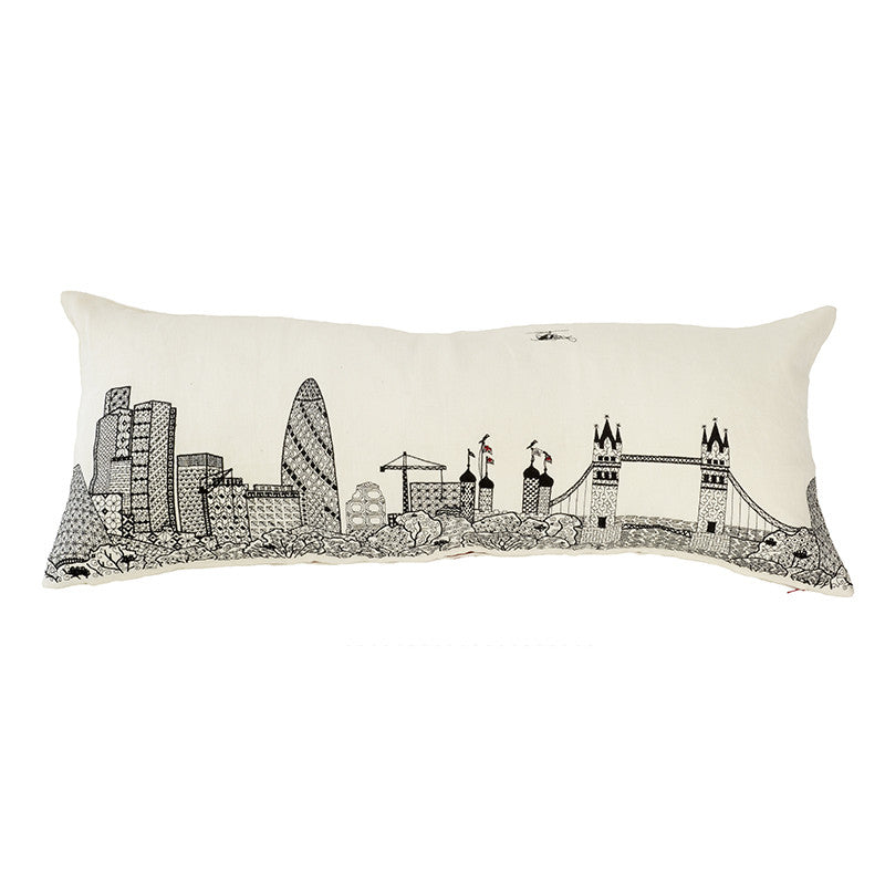 London Skyline White Linen