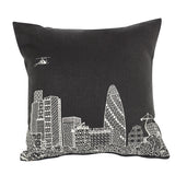The Gherkin Grey Linen cushion cover