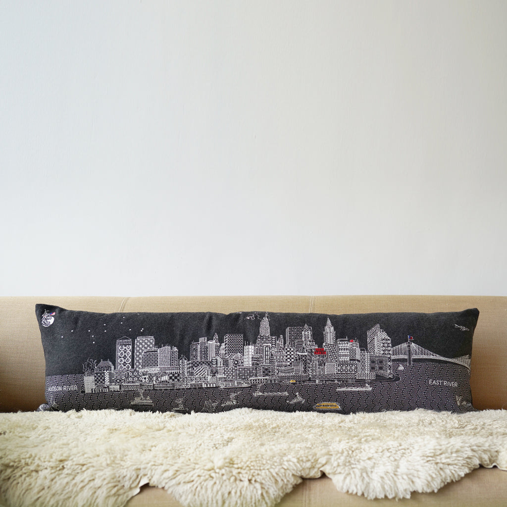 New York By Day 120cm Grey Wool