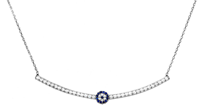 Evil Eye Bar Necklace