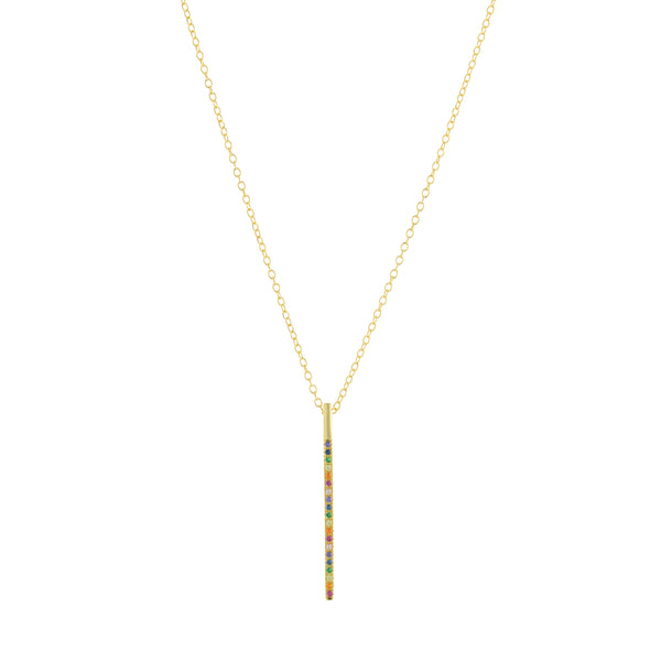 Rainbow Inlay Necklace