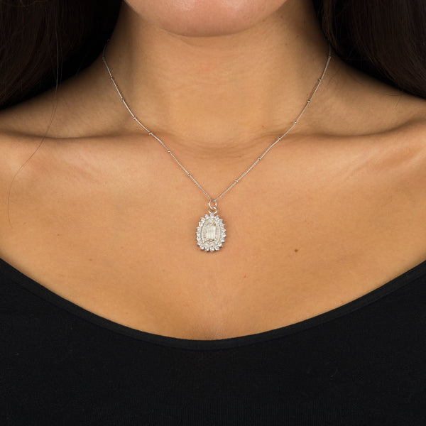 Silver Jaded Necklace